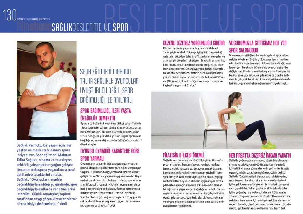 Sağlık Spor Yazı Röportaj Dergi